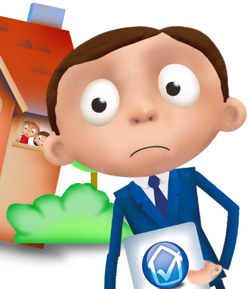 Home survey's and risk for home buyers in an animated explainer video